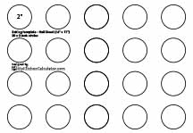 Circle Template, 2 inch x 20