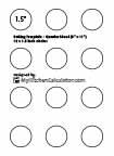 Circle Template, 1.5 inch x 12