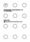 Circle Template, 1 inch x 12