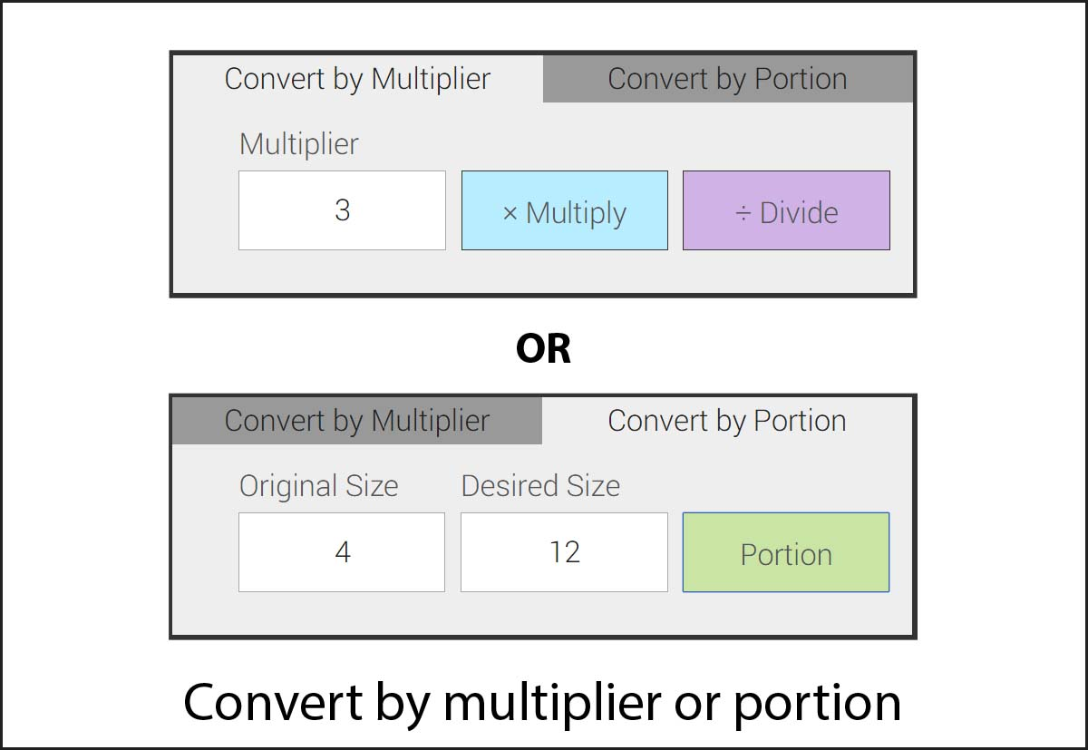 How to convert a recipe mykitchencalculator conversion type image forumfinder Choice Image
